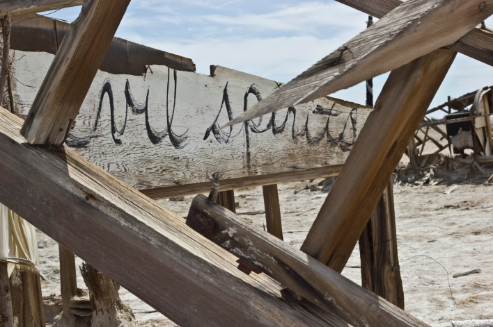 A dilapidated building in Bombay Beach at the Salton Sea, image courtesy of EsotericSapience Flickr Creative Commons.