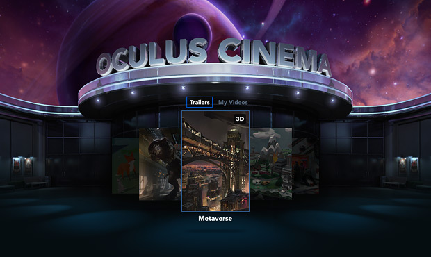 A screenshot of Oculus Cinema. Photo courtesy of Oculus.