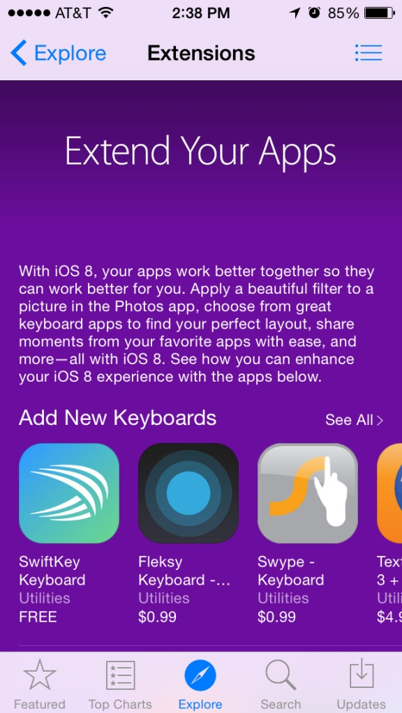 extend your apps ios 8