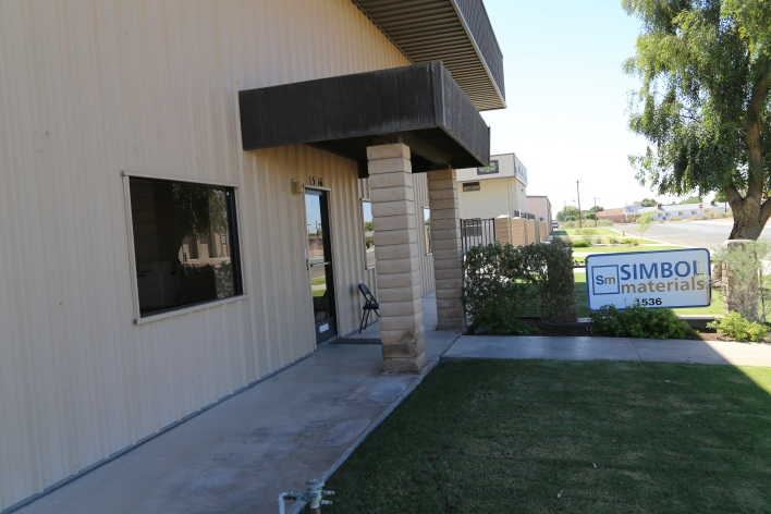 Simbol Material's office in Brawley, California. Image courtesy of Katie Fehrenbacher, Gigaom.