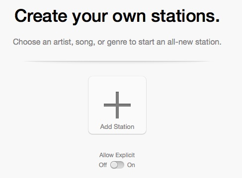 iTunes treats radio like a separate beast, but it should let you easily create stations right from within its store.