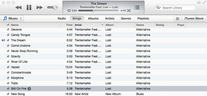 iTunes still makes music look like a spreadsheet.