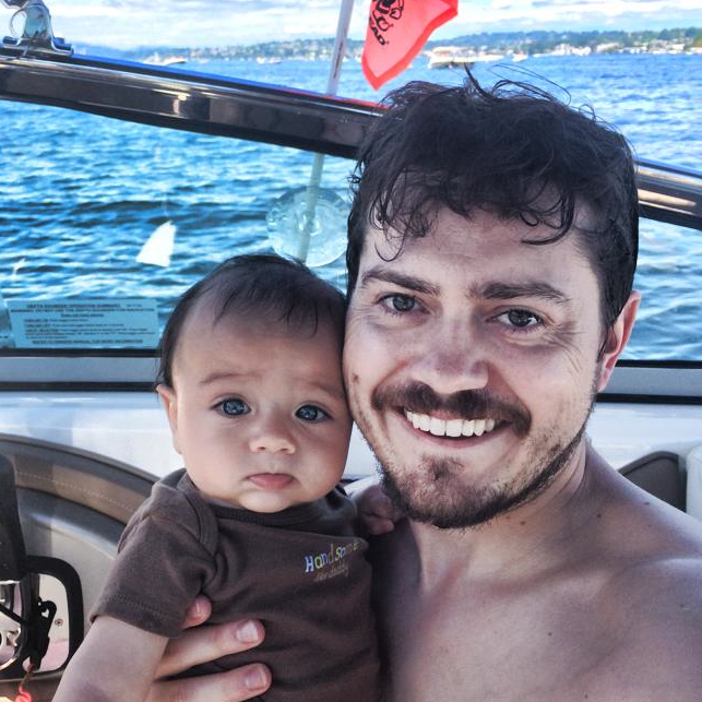 Blue Box Founder and CTO Jesse Proudman (and son)