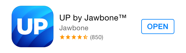 The old Up by Jawbone app icon