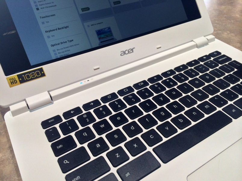 Acer Chromebook 13 keyboard