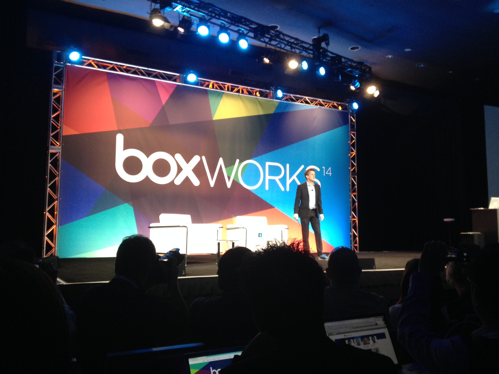 Box CEO Aaron Levie at BoxWorks 2014