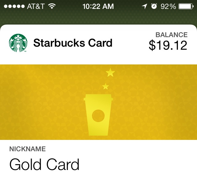 Starbucks Card balance
