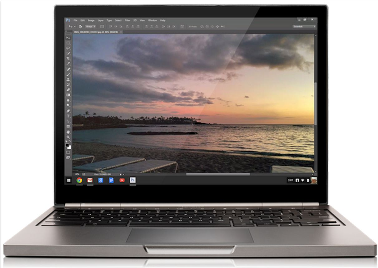 Photoshop on Chromebook Pixel