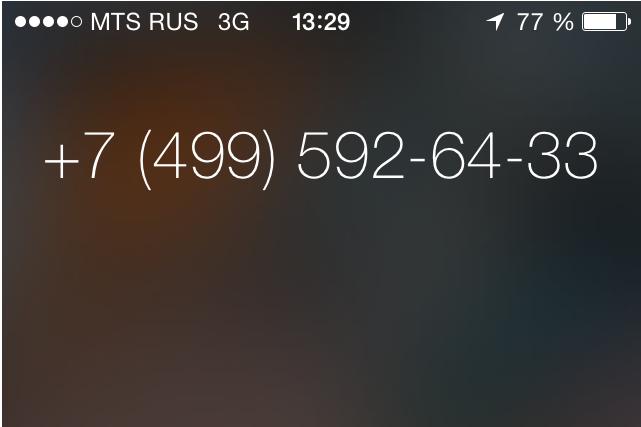 Skype Russian number