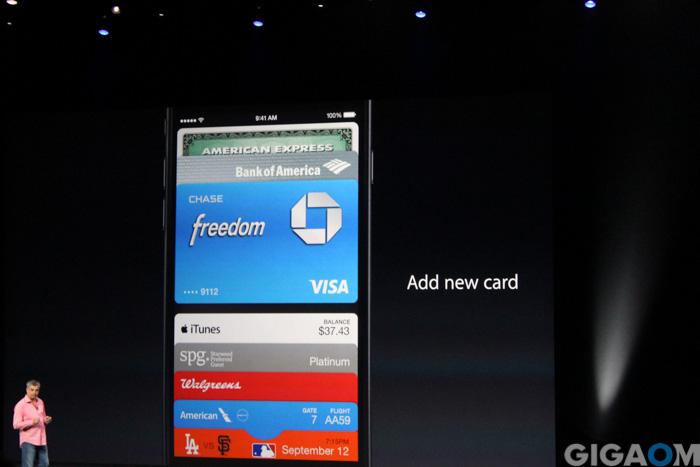 Apple Pay inside Passbook
