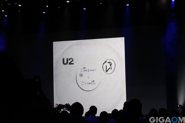 U2 releases its newest album on iTunes free. Photo by Tom Krazit/Gigaom