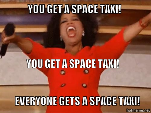 Space taxi meme