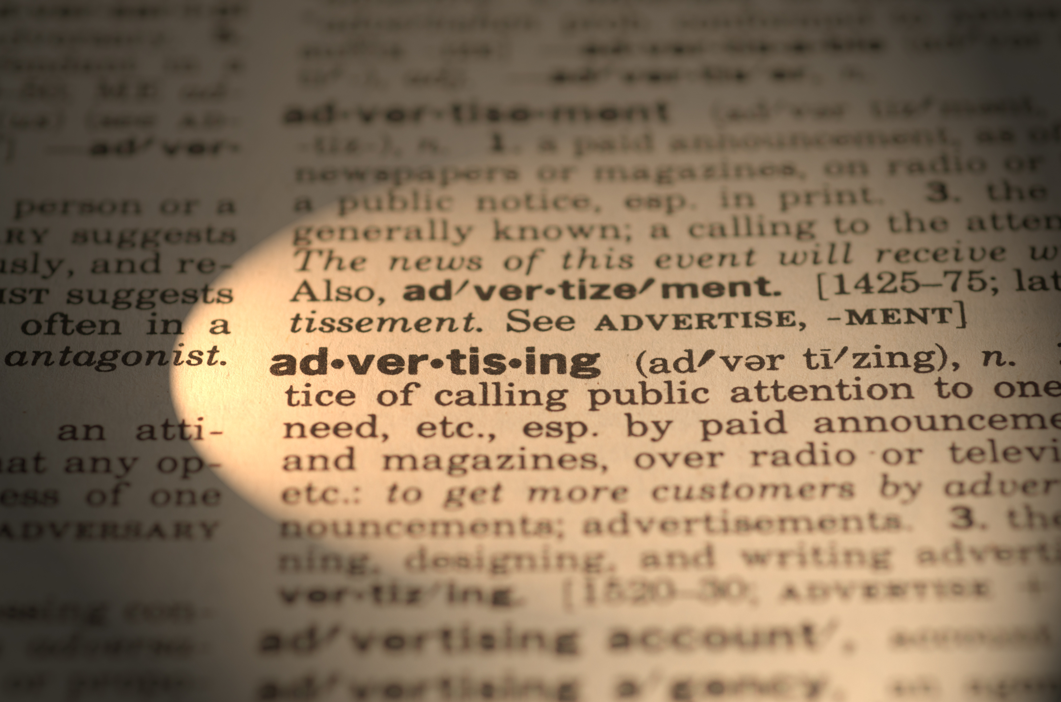 Dictionary definition (advertising)