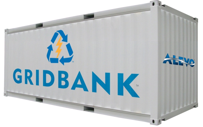 A 20-foot battery container by startup Alevo.