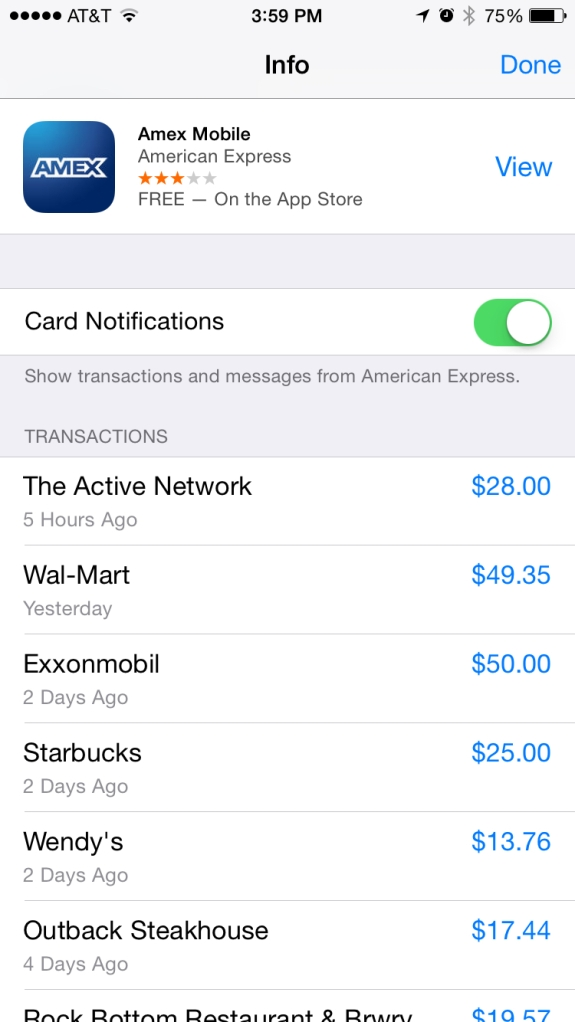 apple pay amex transactions