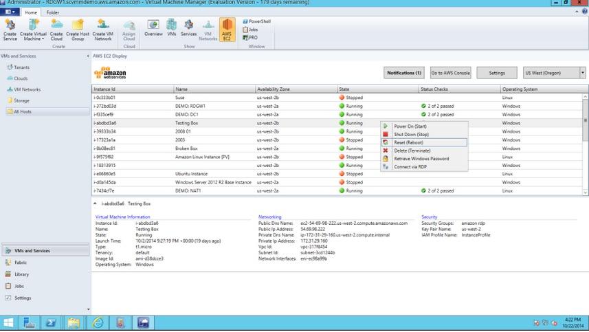 AWS SVMM add-in