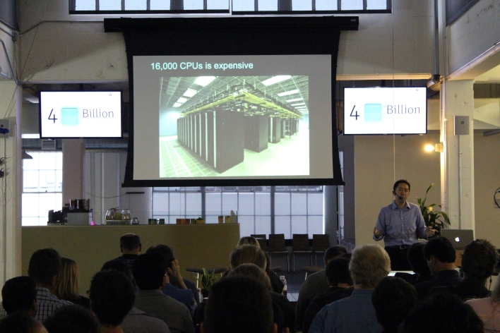 About 200 people showed up at our Future of AI event to watch Andrew Ng of Baidu, and others, talk about deep learning. Credit: Biz Carson / Gigaom