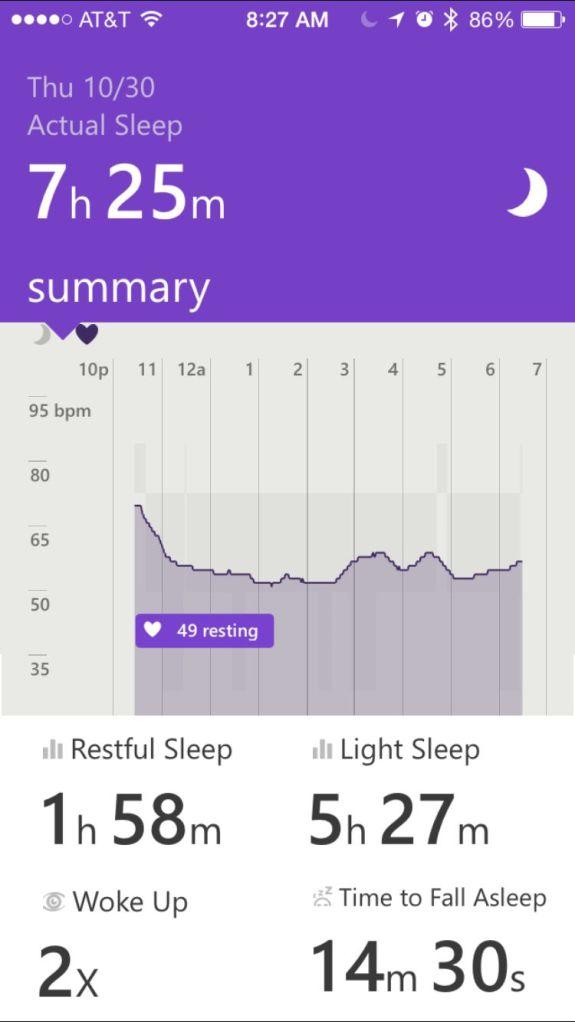 Microsoft Band sleep