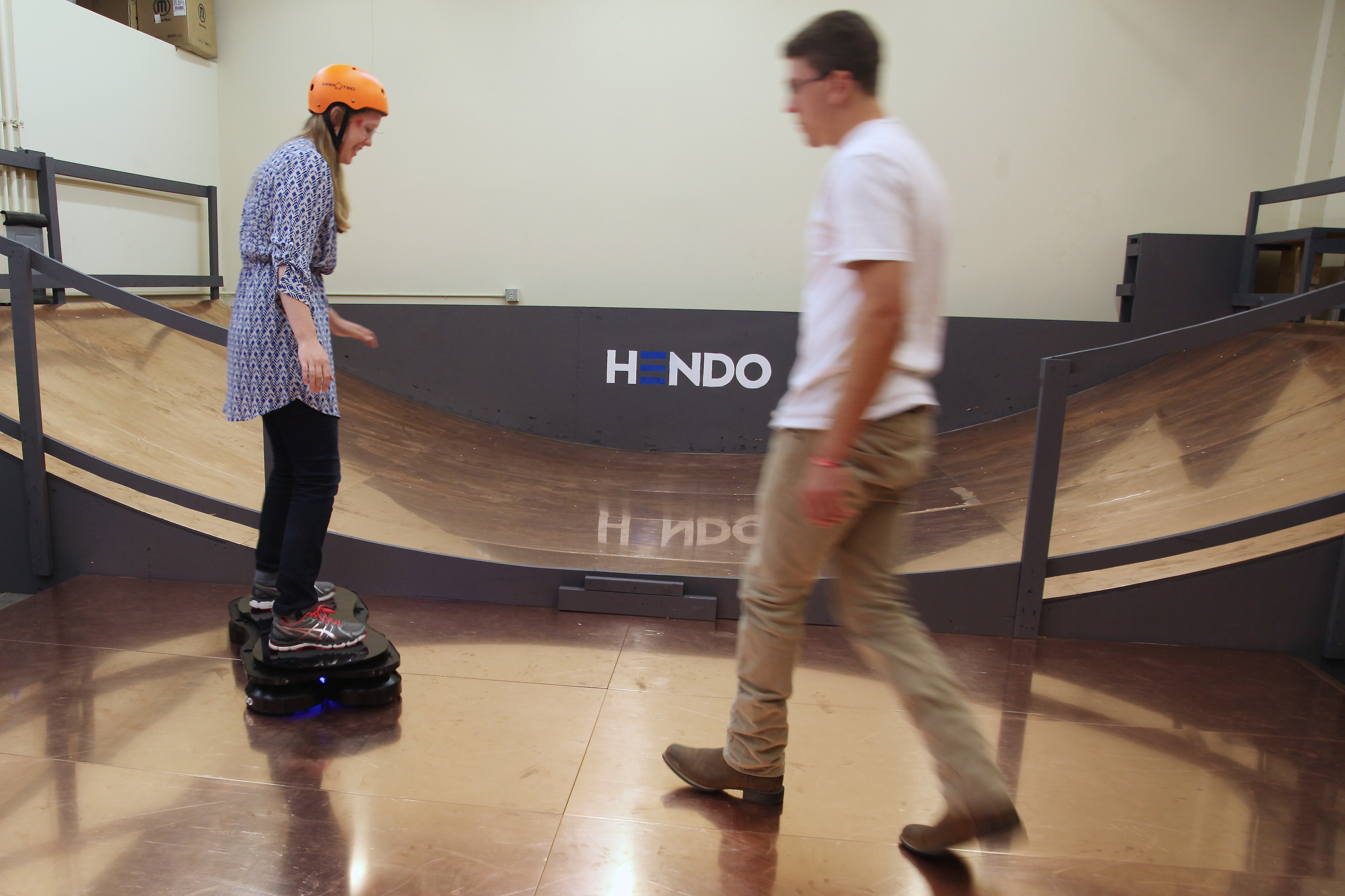 That's me on the Hendo hoverboard. Photo by Arx Pax.
