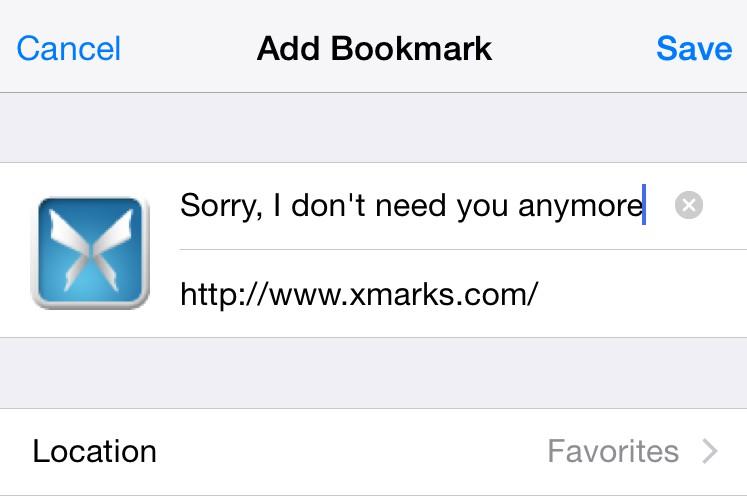 ios bookmark
