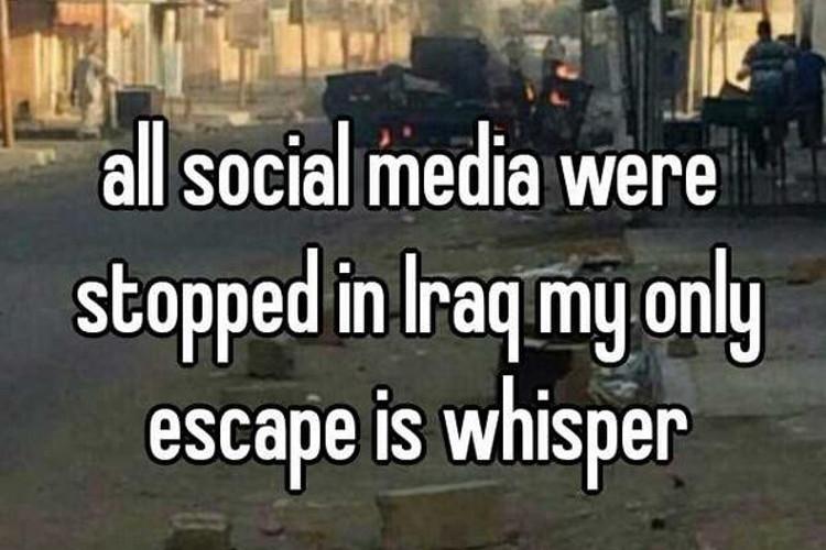 Iraq Whisper post