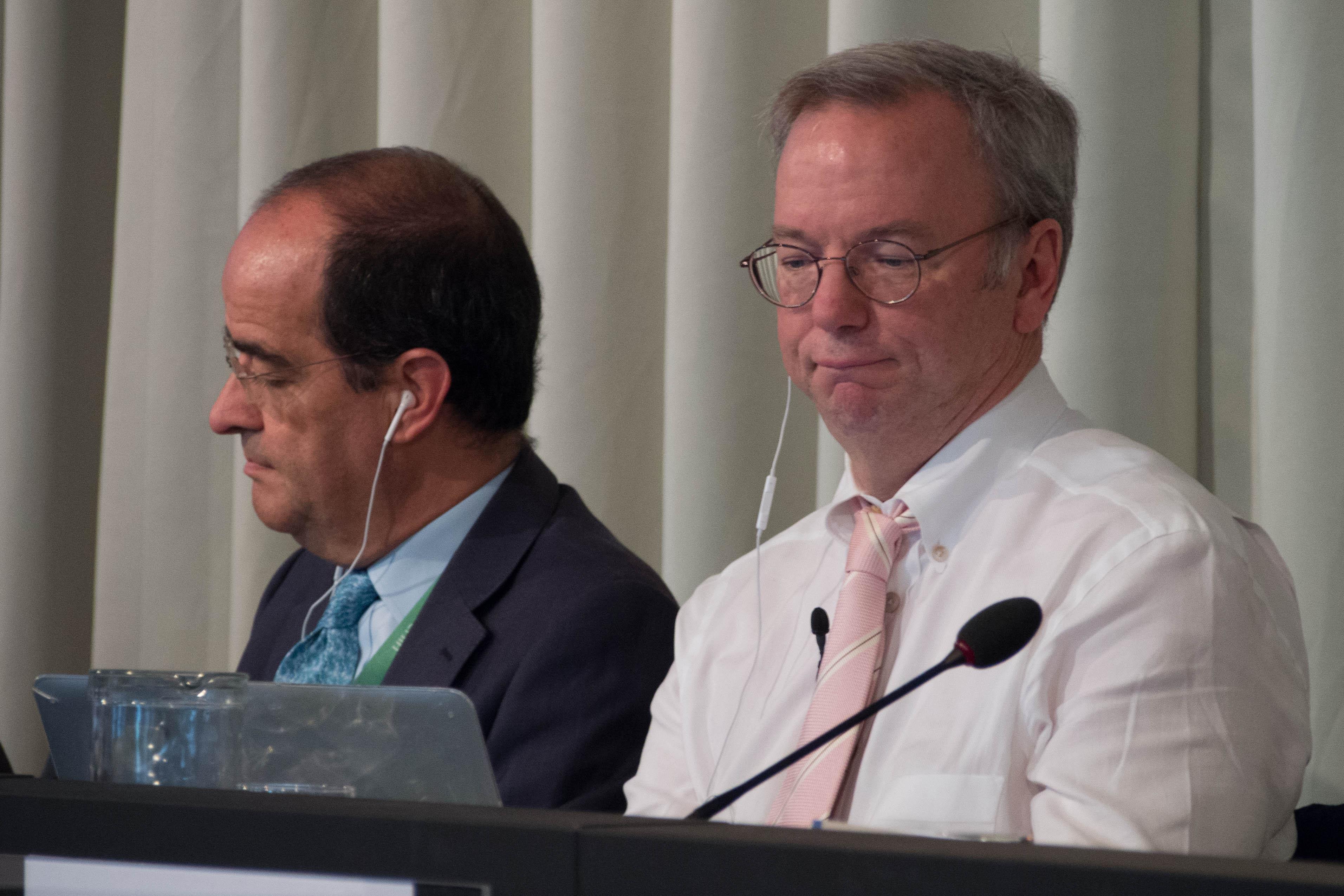 José Luis Piñar and Eric Schmidt