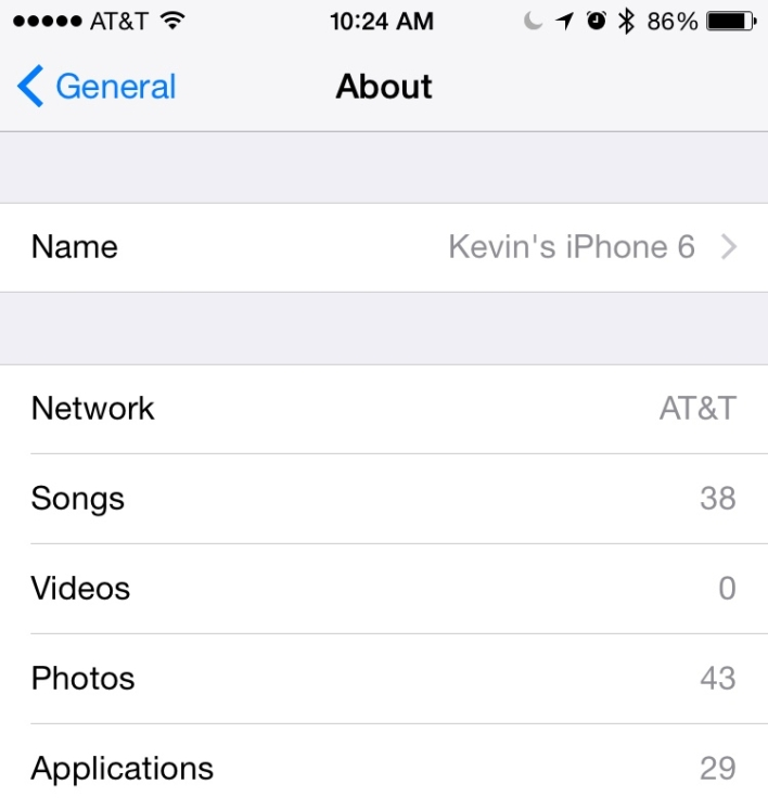 kevins iphone 6 usage