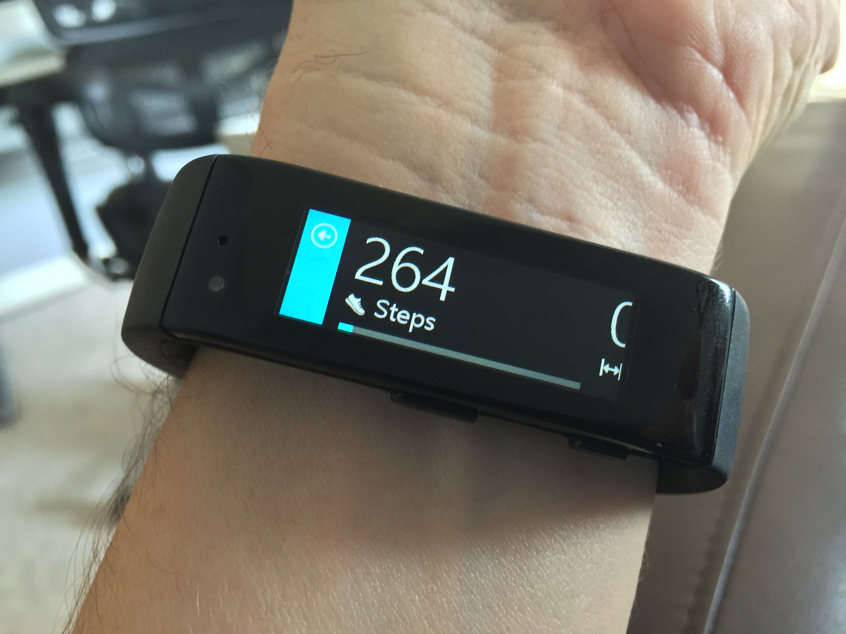 Microsoft Band steps