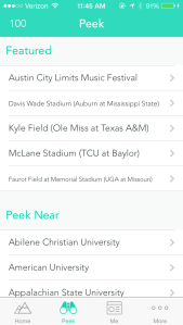 """""""Featured"""" Yik Yak options on a weekend"""