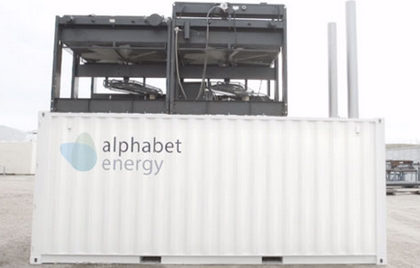 Alphabet Energy's E1 electric generator that cuts diesel fuel use.