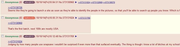 Snapchat 4chan thread