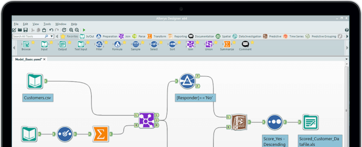 A screenshot of the Alteryx Designer software. Source: Alteryx