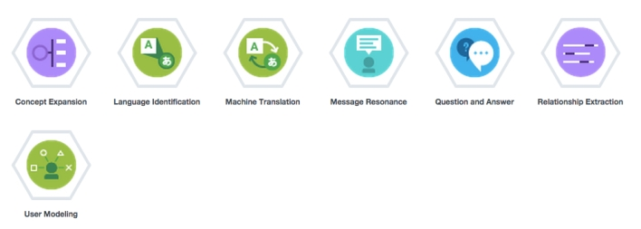 The first set of Watson cloud APIs on IBM Bluemix.