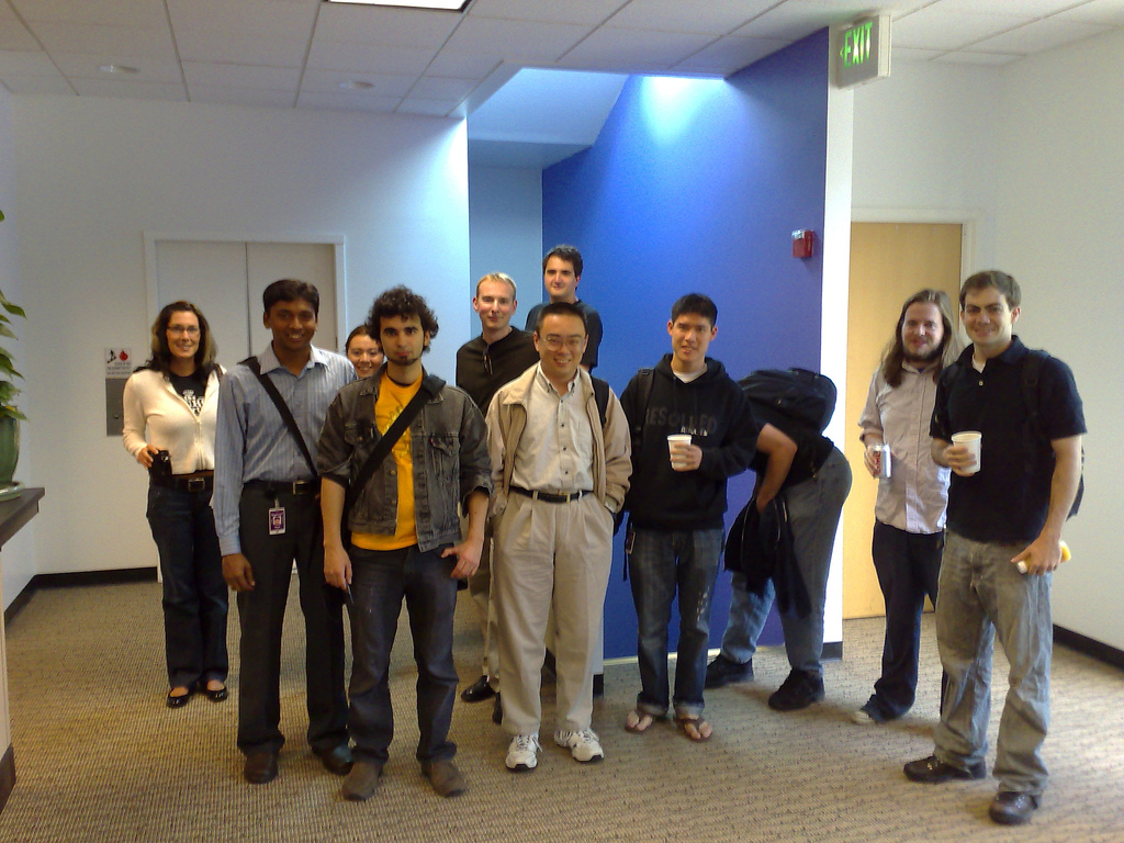 A group of Yahoo Research interns in 2007. Source: Yahoo