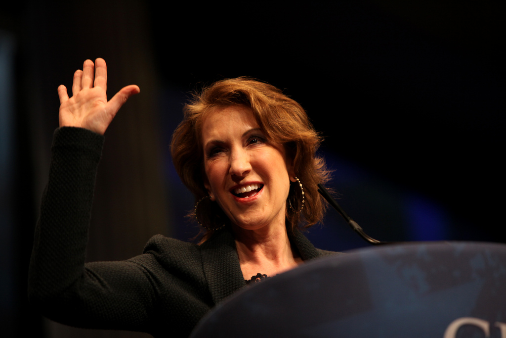 Former HP CEO Carly Fiorina.