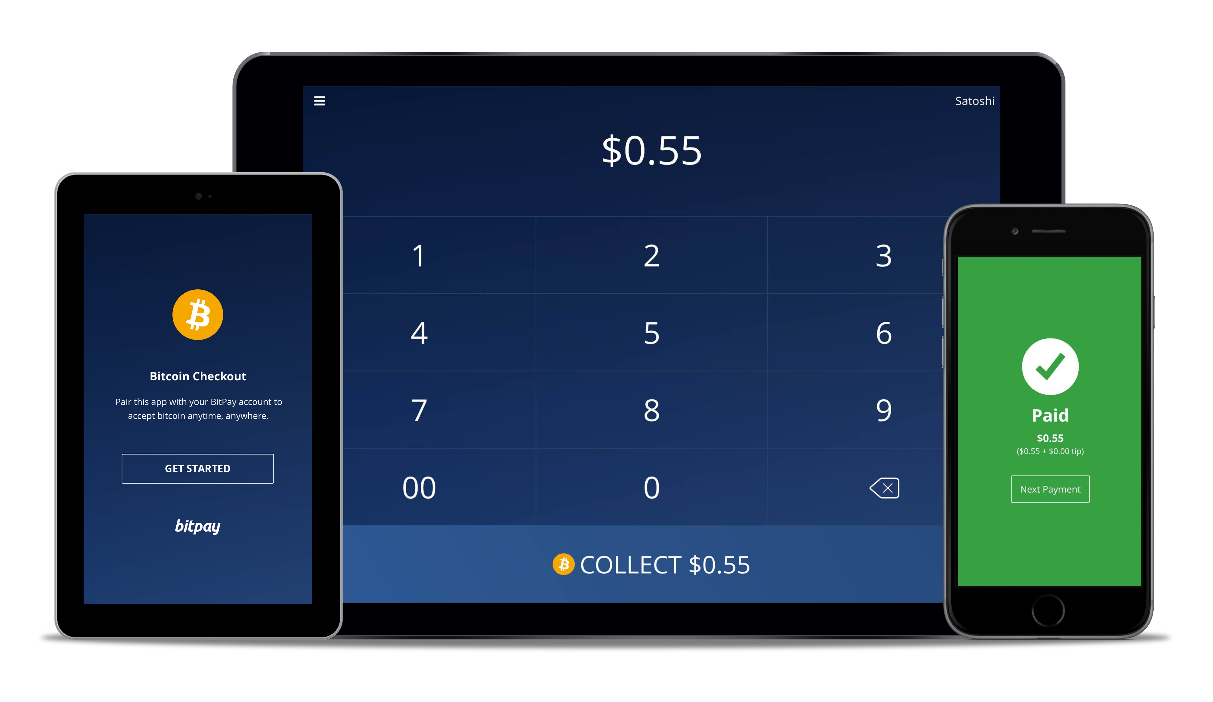 BitPay's new Bitcoin Checkout App allows for one-touch payments via NFC.