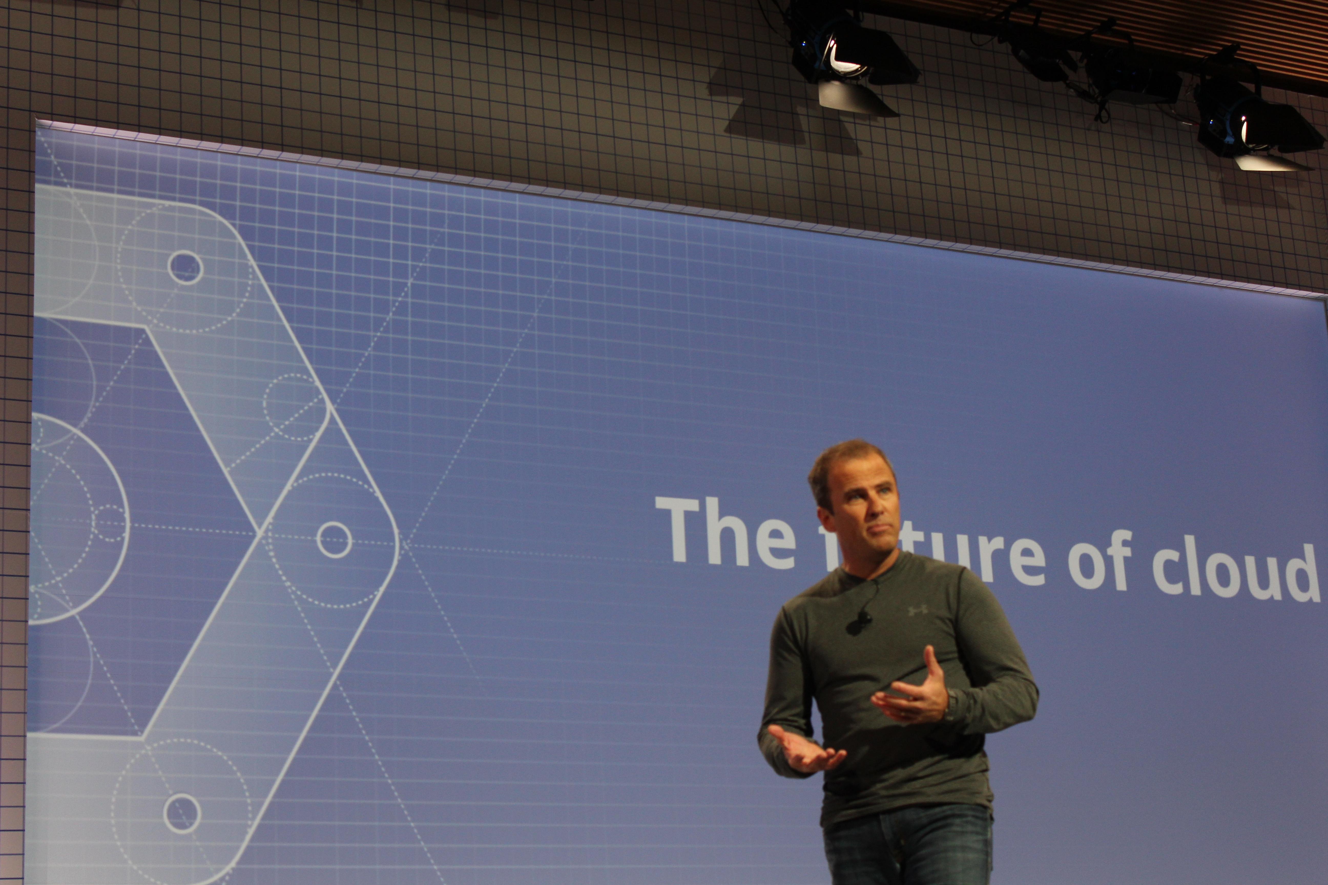 Brian Stevens onstage at Google Cloud Platform.