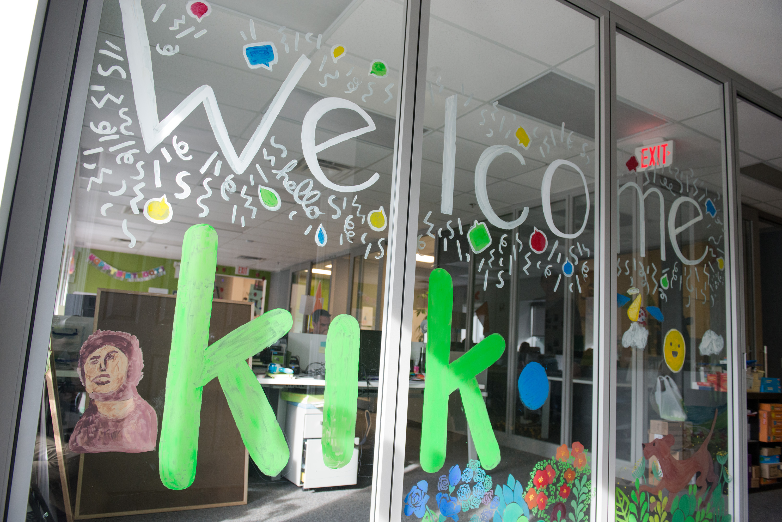 Kik Office Front Window