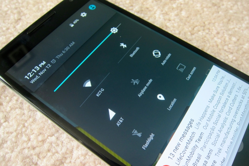 Nexus 6 settings