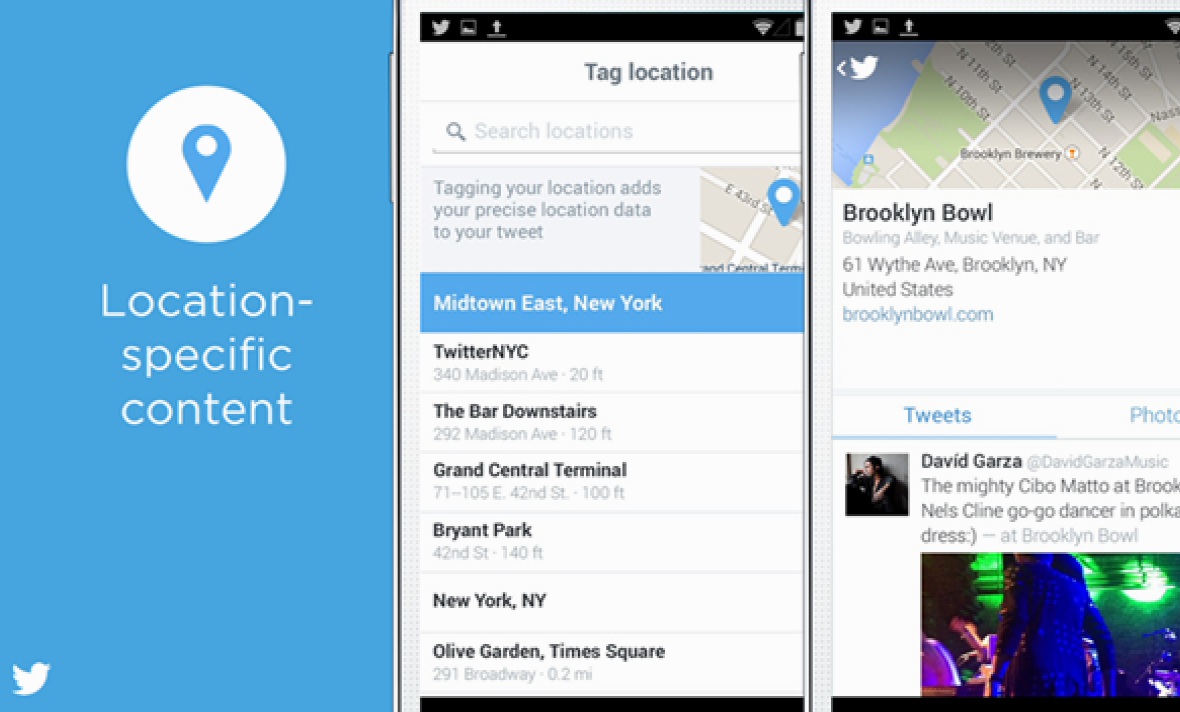 Twitter's location curated timelines