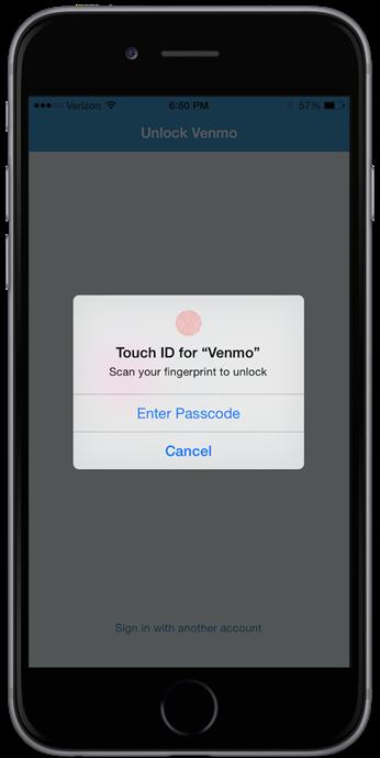 Venmo Touch ID