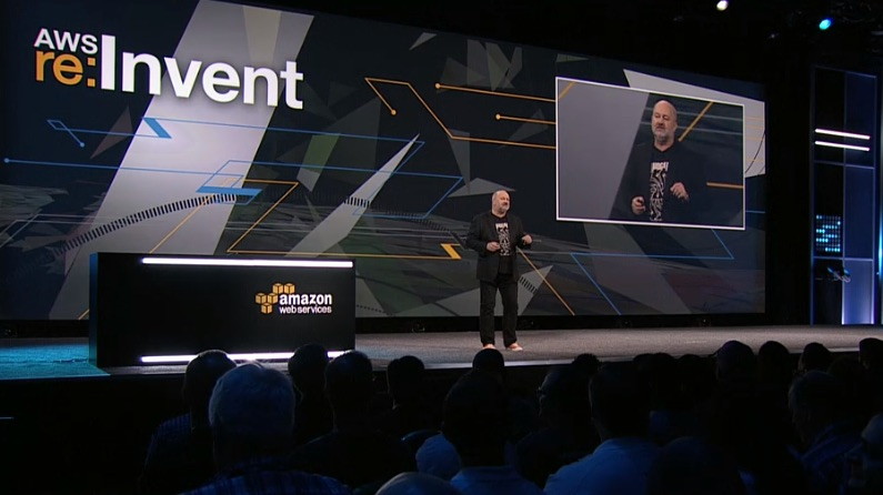 Amazon CTO Werner Vogels speaking at AWS Re:Invent.