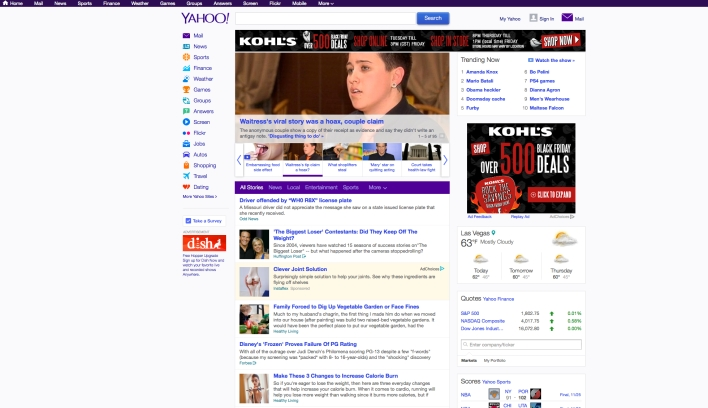 The design is better and the apps are nicer, but Yahoo is still a lot of things.