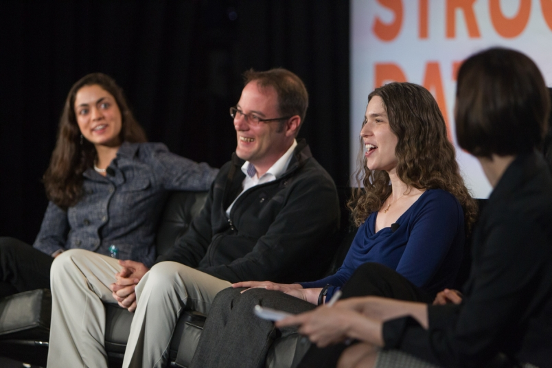 Sven Strohband (second from left) at Structure Data 2014.