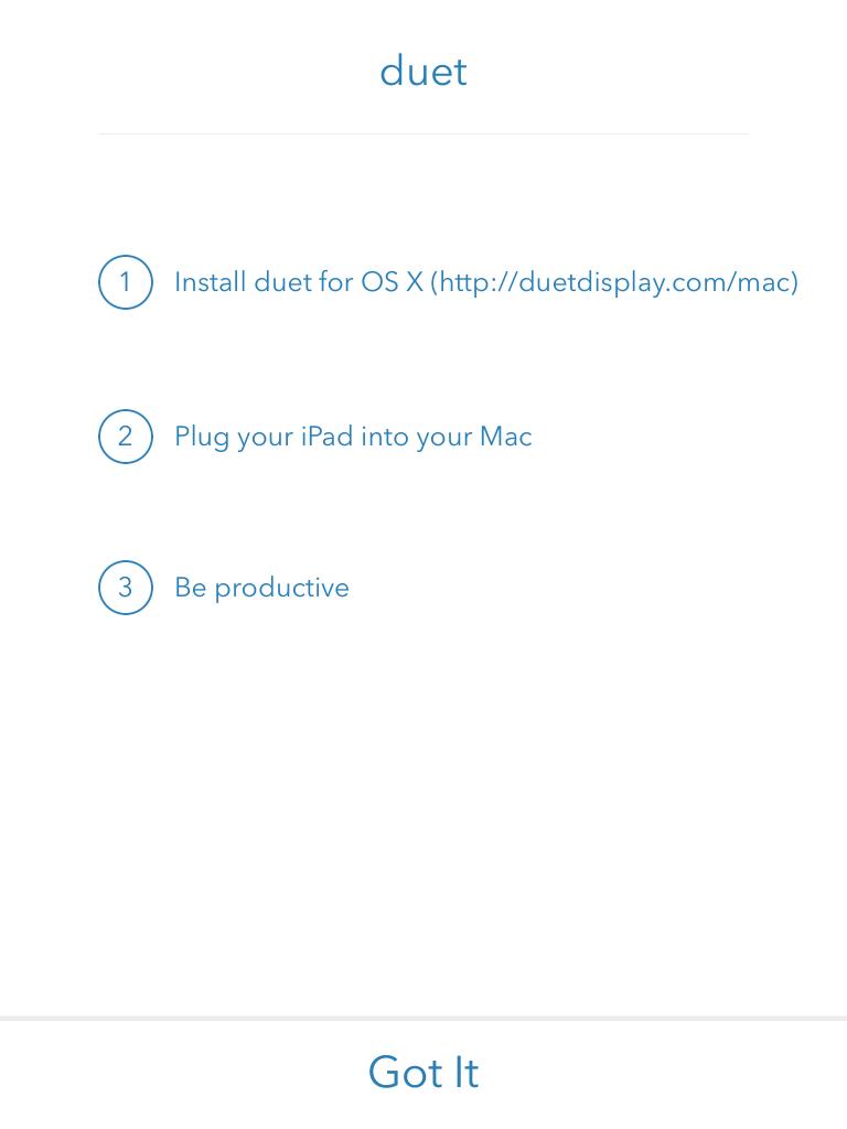 Duet Display set-up screenshot. It's this simple.