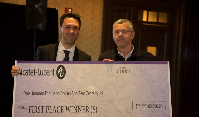 Bell Labs Prize Winner, Emmanuel Abbe with Alcatel-Lucent CEO Michel Combes