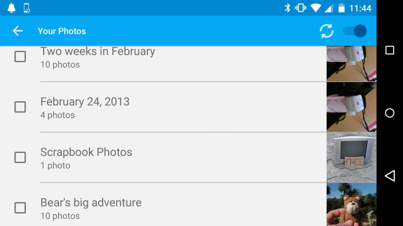 The Chromecast app lets you select tyour own Google+ albums to display on your Chromecast home screen.