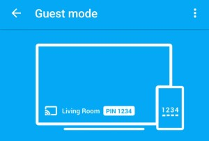 Guest mode can be easily turned on in the Chromecast app.