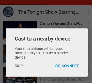 Guests can use your Chromecast without being on the same Wifi network thanks to sounds played by your TV that only your phone can hear. Pretty cool!