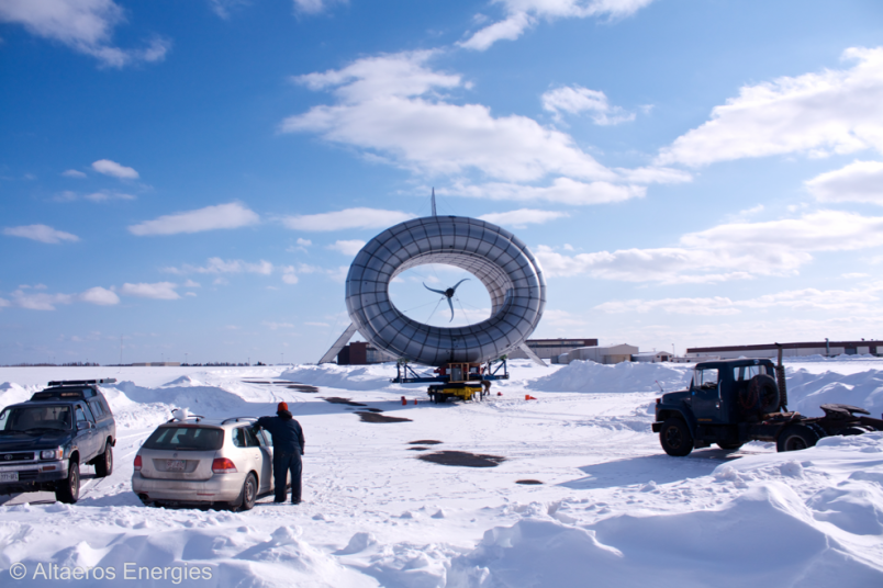 The Altaeros, high altitude wind turbine.